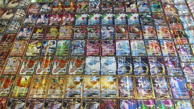 Pokemon 100 Card Lot - GUARANTEED 2 EX / GX & 1 Pack - Full Art Mega Secret CNY