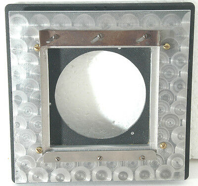 """Lens board Adapter: 4""""x4"""" to 6.31"""" x 6.31"""", with engine turning"""