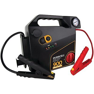 Duracell Drjs30c Jump Starter With Air Compressor [900 Peak Amps; 8 Cylinders]
