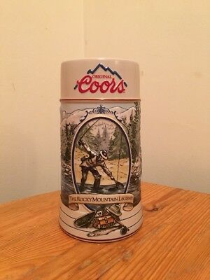 "Original Coors ""The Rocky Mountain Legend"" Ceramic Beer Stein"