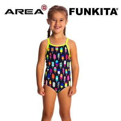 Funkita Frosty Fruits Toddler Girls Printed One Piece , Toddler Girls One Piece
