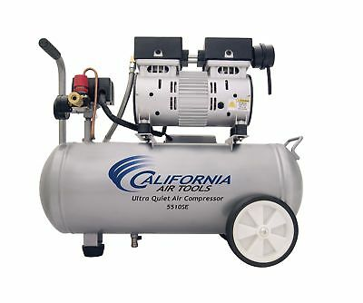 California Air Tools 5510SE Ultra Quiet and Oil-Free 1.0-HP 5.5-Gallon Steel ...
