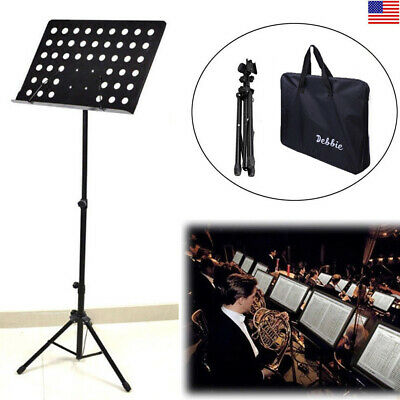 "Portable Folding Sheet Music Stand Holder -Violin Guitar Flute 31~61"" Adjustable"