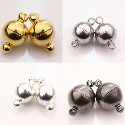 2 *Two Parts Round Jewelry Magnetic Clasps for Jewelry Making Findings 2 Colors