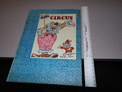 DISNEY CIRCUS Dumbo Big Golden book file copy 1944 clown train flocked pages