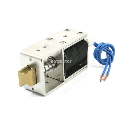 JF-S1670DL 12V 1.6A Opening Frame 10mm Stroke 2.2lb Force Solenoid for Door Lock