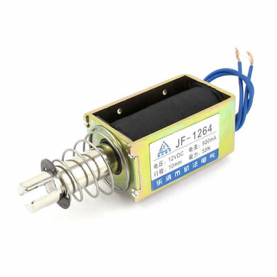 JF-1264 DC12V 500mA10mm 55N Push Type Open Frame Actuator Solenoid Electromagnet