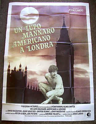 AN AMERICAN WEREWOLF IN LONDON John Landis DAVID NAUGHTON 55x77 ITALIAN POSTER