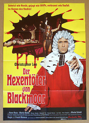 BLOODY JUDGE Night of the Blood Monster CHRISTOPHER LEE 23x33 GERMAN POSTER