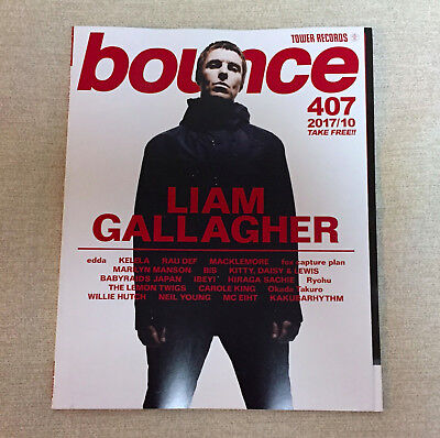 LIAM GALLAGHER bounce JAPAN FREE MAGAZINE TOWER RECORDS Oct-2017 No.407 KELELA