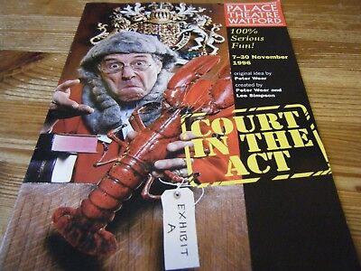 1996  Theatre  Programme  - Court In The  Act -  At The Palace Theatre  Watford