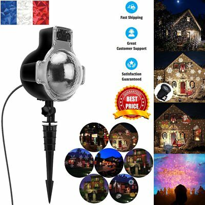 LED Laser Moving Snowflake Xmas Christmas Decor Projector Light Lamp Festiva
