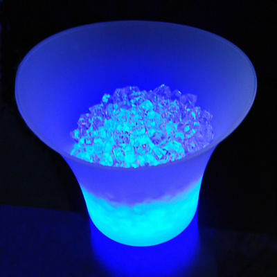LED ICE BUCKET Colour Changing Champagne Wine Drinks Cooler Retro Party Bar Xmas