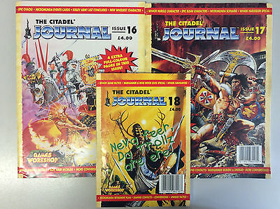 Warhammer Citadel Journal issues 16,17 and 18