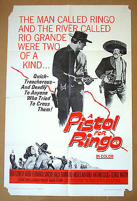 PISTOL FOR RINGO Spaghetti Western 27x41 MOVIE POSTER