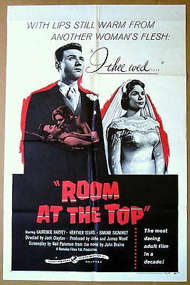 ROOM AT THE TOP Laurence Harvey, Simone Signoret POSTER