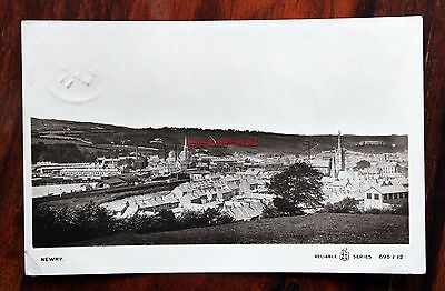 Posted 1911 Photo Postcard Rp Northern Ireland Newry General View Houses Church