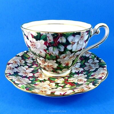 Stunning Chintz Peach Tree Royal Standard Tea Cup and Saucer Set