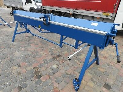 MANUAL SHEET METAL FOLDER BENDING BRAKE MACHINE 3140/0.8 incl. rotary slitters