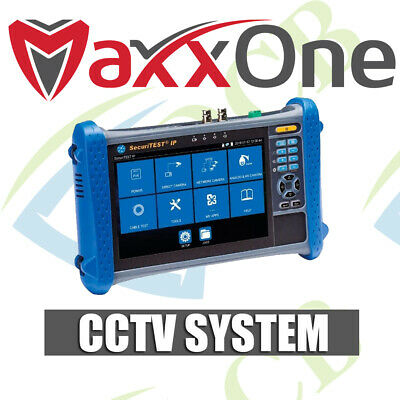 MaxxOne 7'' TOUCH SCREEN UNIVERSAL CCTV IPC TESTER/MONITOR BUILT-IN WIFI 1080P