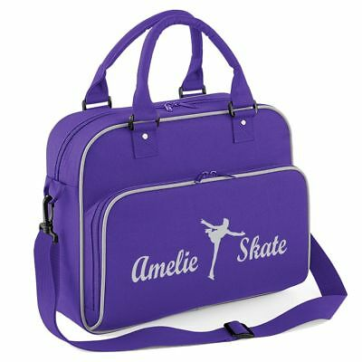 Personalised Ice Skate Dance Bag Your Name Ice Skate and Skate Design