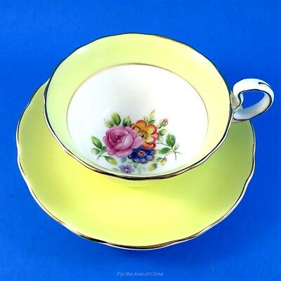Light Yellow Border with Floral Center Radfords Tea Cup and Saucer Set