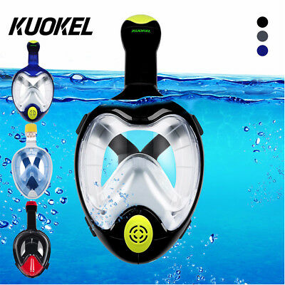 Full Face Snorkel Mask Scuba Diving Snorkelling 180° For GoPro Free Breath Swim