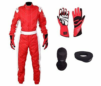 LRP Adult Kart Racing Suit Red CIK/FIA Level 2 Rated Whole Set, UK Seller