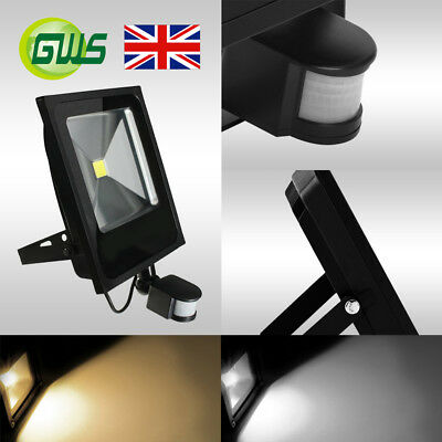 Slimline LED Floodlights With PIR Motion Sensor Security Outdoor Flood Light UK
