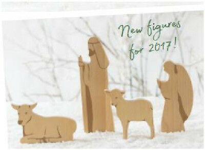 2017 LONGABERGER CHRISTMAS Nativity Set WOODCRAFTS  wood 4 piece expansion set