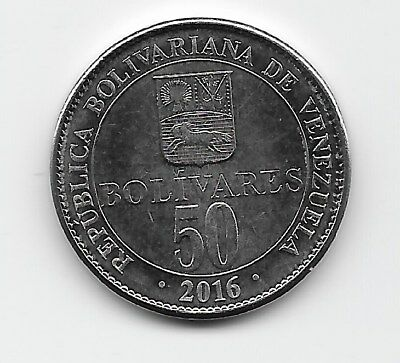 World Coins - Venezuela 50 Bolivares 2016 Coin Y# NEW