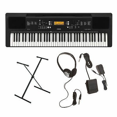 Yamaha PSR-EW300 Portable Keyboard with Survival Kit and Bench