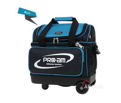 ABS Premium Silent Roller Bowling Bag 1 Ball Pocket Blue Color Authentic