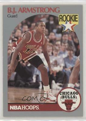 1990 91 Nba Hoops 60 Bj Armstrong Chicago Bulls Rc Rookie Basketball Card