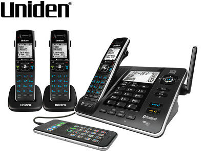 Uniden XDECT 8355+2 Integrated Bluetooth Digital Cordless Phone System - Black
