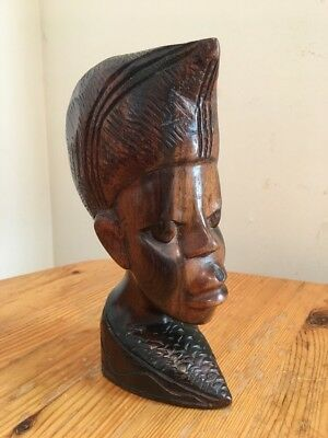 Hand Carved African Sculpture Head