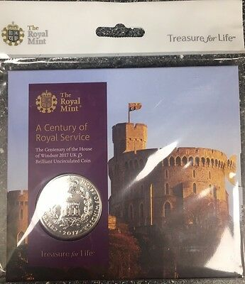 2017 House Of Windsor £5 BU coin - Royal Mint - FREE POSTAGE- reduced to sell