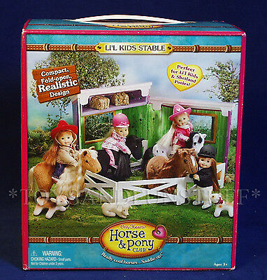 New LI'L KIDS STABLE - Only Hearts HORSE & PONY CLUB - Stall & Tack Room NEW