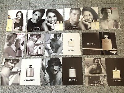 CHANEL ALLURE Lot 42 publicités Advertisings Set Clippings Parfum Cuttings