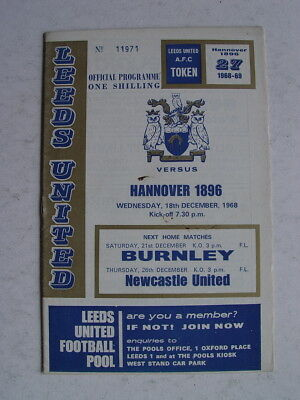 Leeds United v Hannover 1896 1968/69 Fairs Cup
