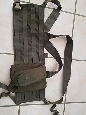 eagle industries chest rig OD, made in USA, used condition, free pouches