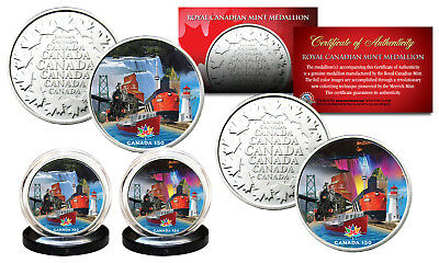 CANADA 150 ANNIVERSARY Rendition 2017 Loonie Dollar on RCM Medallions 2-Coin Set