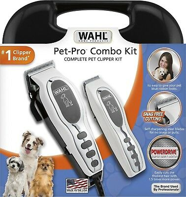 Wahl Pet Pro Thick Hair Complete Heavy Duty Dog Grooming-Clipper 13 Pcs Kit