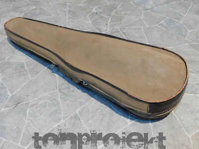 old GEWA canvas linen leather 4/4 violin CASE protection COVER Germany 1930s