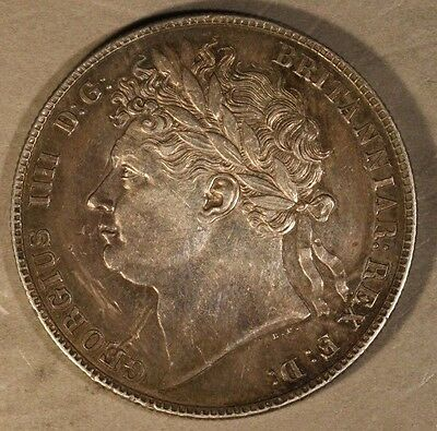 1821 Great Britain Half Crown Great Details, Color   ** FREE U.S. SHIPPING **
