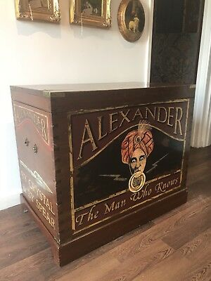 "Most Amazing Antique Mahogany ""Alexander The psychic"" Travelling Trunk. Offers?"