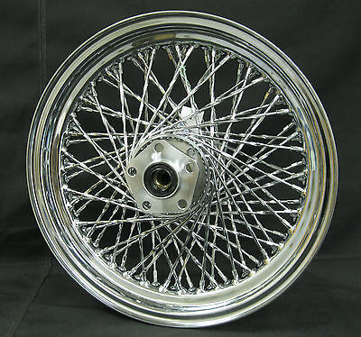 "Chrome Ultima 80 Twisted Spoke 16"" x 3"" Rear Wheel for Harley Models 1984-1999"