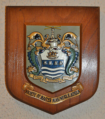 Society of Master Mariners East Africa wall plaque shield crest