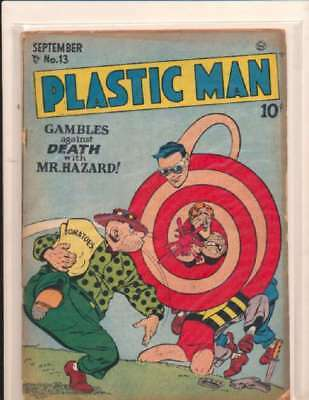 Plastic Man (1943 series) #13 in Very Good - condition. FREE bag/board