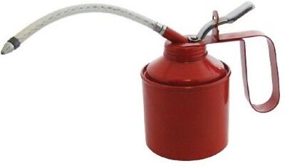 Traditional 1/4 Pint Oil Can With Flexible Spout Lubricant Thumb Pump Freepost!